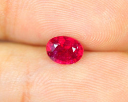 Promotion Sales 1.27Ct Blood Red Color Ruby Oval Cut Lot B103
