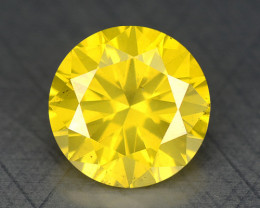0.43 Ct Diamond Yellow Color Top Class Luster DY4
