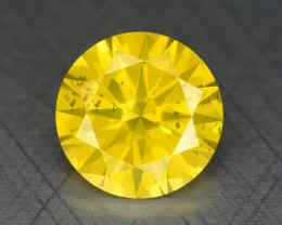 0.34 Ct Diamond Yellow Color Top Class Luster DY5