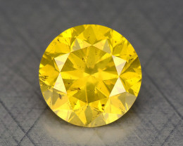 0.30 Ct Diamond Yellow Color Top Class Luster DY7