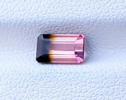 1.10 Ct Natural Bi Color Tourmaline Paprock Gemstones