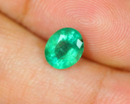 1.41ct Zambia Green Emerald Oval Cut Lot A304