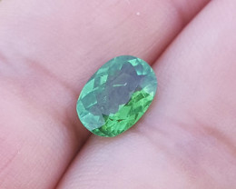 2 carats Transparent Green color Tourmaline Gemstone From Afghanistan