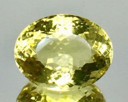 18.32 Crt Natural Lemon Quartz Faceted Gemstone.( AG 77)