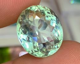 13.02 cts Flawless Mint Green Tourmaline  - AAA Jewelry Grade