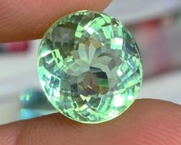 8.15 cts Glowing Green Tourmaline - Flawless Clarity - AAA Top Quality
