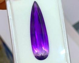 19.10 cts Bi-Color Amethyst Teardrop - Glowing Purple!!
