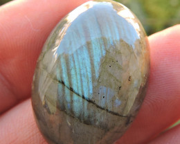 43.30ct LABRADORITE OVAL CAB FROM MADAGASCAR