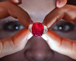 $30,000,000.00 USD Sunrise Ruby (obviously, not in our possession).  Gem is 25.29 carats.