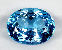 20.60Crt Blue Topaz Swiss  Best Grade Gemstones JI121