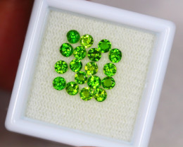 1.68ct Chrome Diopside Round Cut 2.8 mm Lot S51