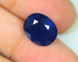 7.39ct Blue Sapphire Composite Oval Cut Lot S25