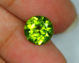 4.15ct Green Peridot Round Cut Lot V2726