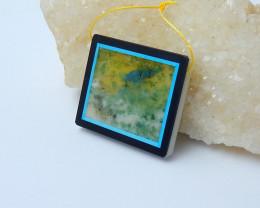 110cts fashion ocean jasper obsidian white jade intarsia pendant(A262)