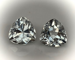 2 PC PARCEL OF TOP JEWELLERY GRADE TOPAZ GEMS VVS 7.0MM