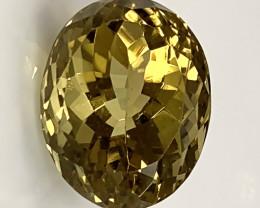 10.08ct Green Gold Quartz Gem VVS No reserve ~