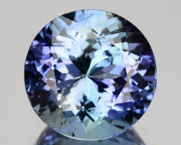 3.07 Cts Natural Purplish Blue Tanzanite Round Cut Tanzania