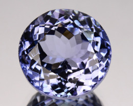 3.31 Cts Natural Purplish Blue Tanzanite Round Cut Tanzania