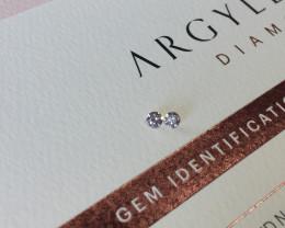 2=0.16ct 9PR SIAV Certified Argyle Pink Diamonds