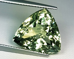 "12.80 ct "" Collective Gem"" Stunning Triangle Cut Natural Green Am"