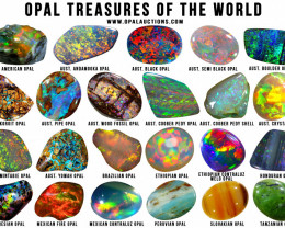 TEN OPAL TREASURES OF THE WORLD POSTER