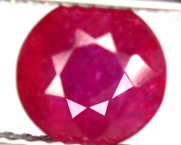 2.26 Cts Natural Pigeon Blood Red Ruby 7.0mm Round Cut Mozambique