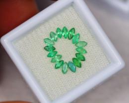 1.10ct Zambia Green Emerald Marquise Cut Lot W18