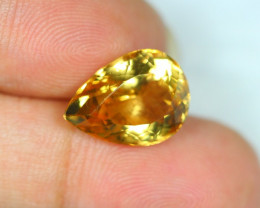 7.48Ct Yellow Citrine Pear Cut Lot LZ1499
