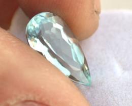 3.72 Carat Aquamarine -- Nice Pear Cut Stone