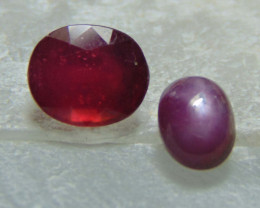 Mix colors stones ~ red ruby ~ indian star ruby   4.35 cts