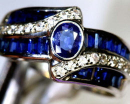 18.95-CTS SAPPHIRE RING BLUE AND WHITE   SG-2795
