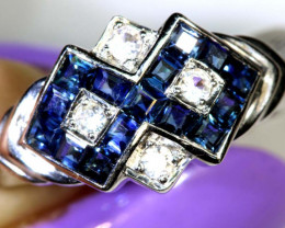 14.40-CTS SAPPHIRE RING BLUE AND WHITE   SG-2796