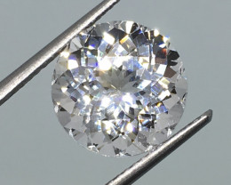 5.72 Carat VVS Cert. Danburite Diamond White Color Master Cut  Masterpiece