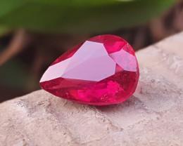 3.75 Ct Natural Reddish Pear Cut Rubellite Tourmaline Gemstone