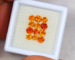 2.52Ct Hessonite Garnet Round Cut Mix Size Lot B118