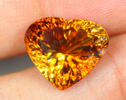 11.43Ct Brown Gold ColorTopaz Heart Cut Lot LZB305