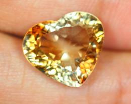 9.06Ct Light Brown Color Topaz Heart Cut Lot LZB306
