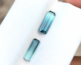 1.60 Ct Natural Blueish Transparent Tourmaline Gemstones Pairs