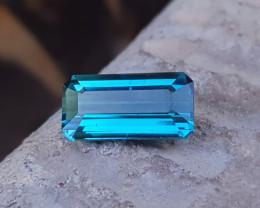 1.75 Ct Natural Blue Transparent Nice Color Tourmaline Gemstone