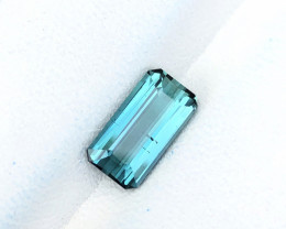 1.75 Ct Natural Blue Transparent Nice Color Tourmaline Gemstone