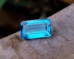 1.85 Ct Natural Sky Blue Transparent Tourmaline Ring Size Gemstone