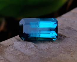 4.05 Ct Natural Bi Color Blue Transparent Tourmaline Gemstone