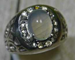47.40 CT UNTREATED Indonesian Crystal Opal Ring Jewelry