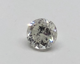 Exqusite IGL Certified $1129 Natural 0.61ct. Round Brilliant White Diamond