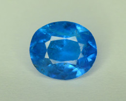 1 Cts Neon Blue Apatite ~ Awesome Color and Luster