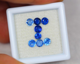 1.97ct Blue Kyanite Round Cut Mix Size Lot GW2722