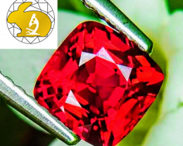 NR! Certified Perfect Color VIVID Red Spinel Burma $8,750 Free DHL Express