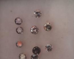 NATURAL RAREST SALT AND PEPPER DIAMOND-2.8MMSIZE-10PCSLOT