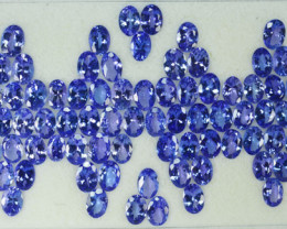 56.14 Cts Natural Tanzanite Purplish Blue 7x5 mm Oval 75 Pcs Tanzania