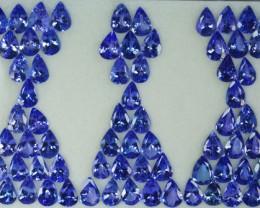 45.09 Cts Natural Tanzanite Purplish Blue 7x5 mm Oval 70 Pcs Tanzania